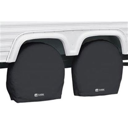 "Picture of Classic Accessories  1-Pack Black 19"" to 22"" Diam Single Tire Cover 80-235-300402-00 01-7307"