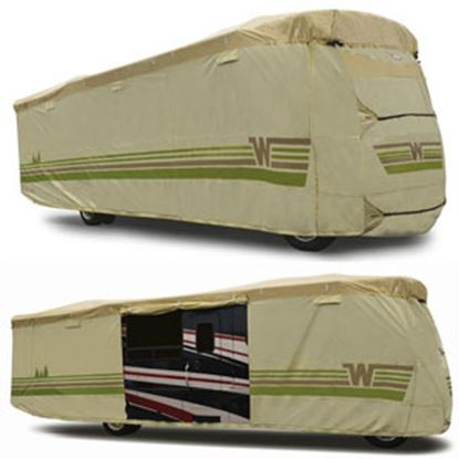 """Picture of ADCO Winnebago (TM) Tan Polypropylene Cover For 28' 1""""-31' Class A Motorhomes 64824 01-8643"""