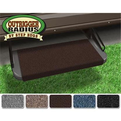 """Picture of Prest-o-Fit Outrigger (R) Chocolate Brown 18"""" Entry Step Rug 20315 04-0288"""