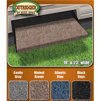 """Picture of Prest-o-Fit Outrigger (R) Brown 18"""" Entry Step Rug 2-0311 04-0306"""