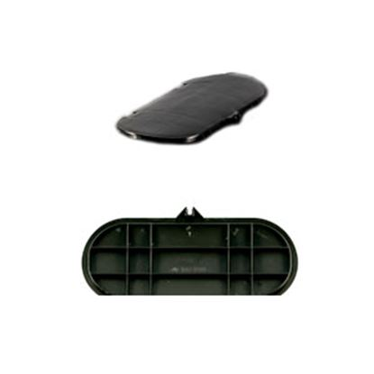 Picture of Camco  Black Hard Plastic LP Tank Cover Lid 40567 06-2253