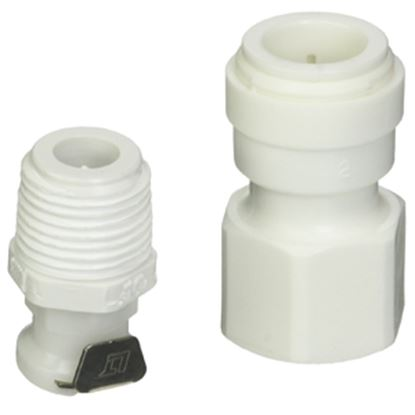 """Picture of Camco Hydro Life (R) 1/2""""QC Fresh Water Filter Cartridge Connector w/ Shut-Off Valve 52531 10-0574"""