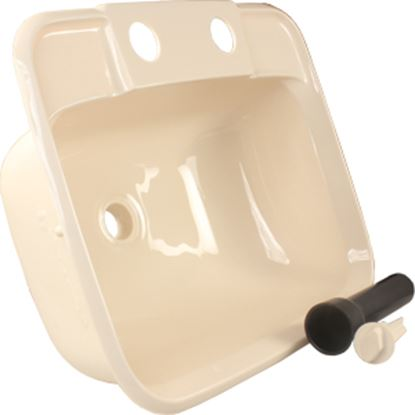 "Picture of JR Products  6""H X 14-7/8""W X 12-3/8""D Rectangular Parchment Sink 95361 10-1113"