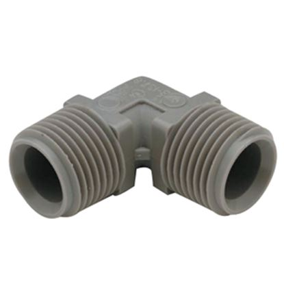 """Picture of QEST Qicktite (R) 3/4"""" MPT Gray Acetal Fresh Water Elbow  10-3054"""