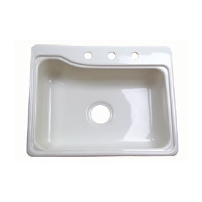 "Picture of Better Bath  24-3/8"" X 18-7/8"" White ABS Plastic Kitchen Sink 209407 10-5706"