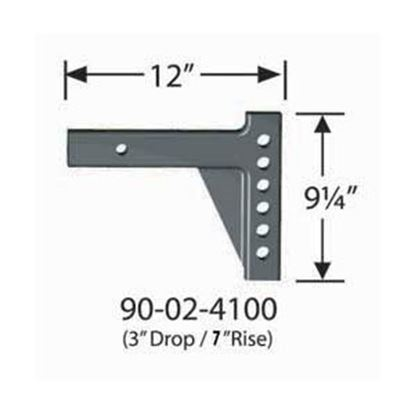 """Picture of Equal-i-zer  12""""L x 7"""" Rise x 3"""" Drop Weight Distribution Hitch Shank 90-02-4100 14-2950"""
