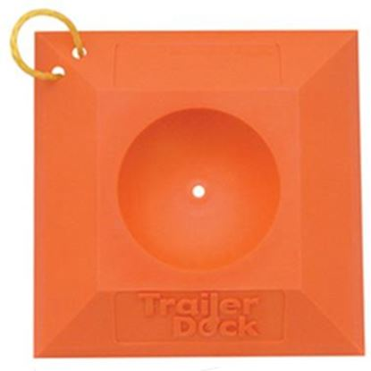 Picture of Safe-T-Alert  Orange Trailer Tongue Jack Wheel Chock w/ Rope Handle SA-6200 15-0320