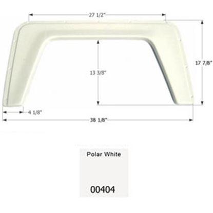 "Picture of Icon  Polar White 38-1/8""L x 17-7/8""H Single Axle Universal Fender Skirt 00404 15-1290"