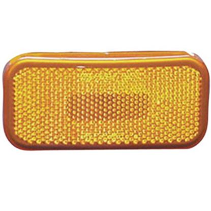 "Picture of Command  Amber 3-7/8""L x 1-7/8""W x 1-3/8""H Clearance LED Side Marker Light 003-58L 18-1355"