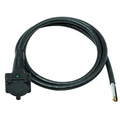 Picture of Bargman  7-Way Blade Car End Trailer Connector w/4' Wire Lead 50-87-004 19-1120