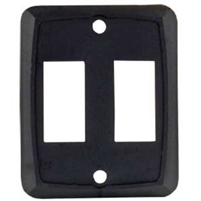 Picture of JR Products  Black Double Opening Multi Purpose Switch Faceplate 12885 19-1885