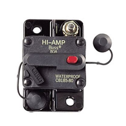 Picture of Bussman TYPE III 100A/ 42V Manual & Switchable Reset Circuit Breaker BP/CB185-100 19-3112