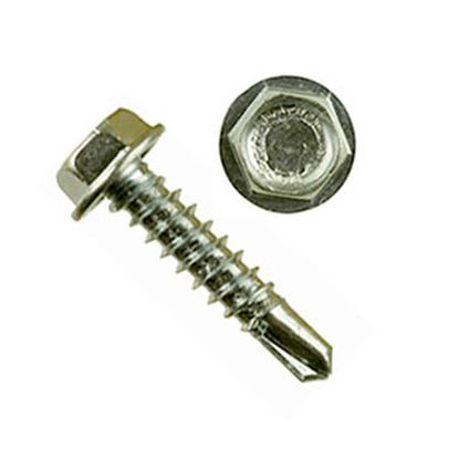 "Picture of AP Products  100-Pack 10"" X 1""L Unslotted Hex Washer Head Screw 012-DP100 10 X 1 20-0252"
