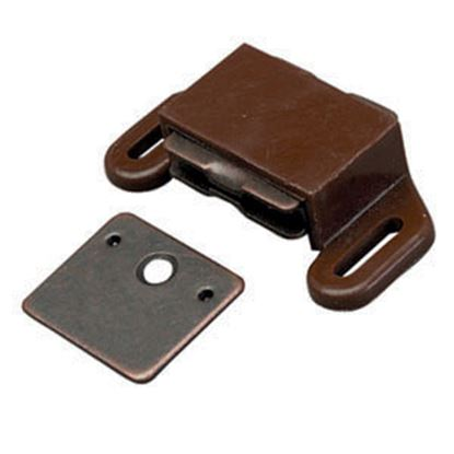 Picture of AP Products  2-Pack Brown Flat Strike Side Mount Magnetic Catch 013-012 20-0499