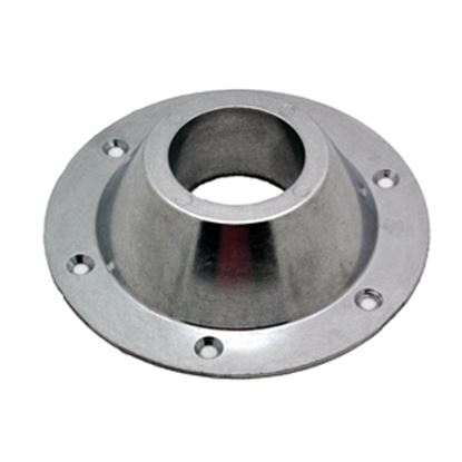 """Picture of AP Products  6-5/8"""" Chrome Round Surface Mount Table Leg Base 013-1119 20-3710"""