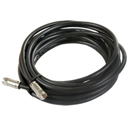 Picture of JR Products  Black 100' RG6 Coaxial Cable w/ Compression End 48005 24-0449