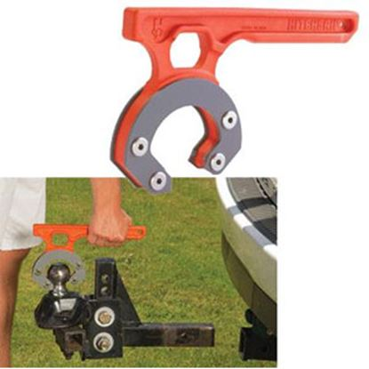"Picture of HitchGrip HitchGrip Orange Nylon Ball Mount Carrying Handle for 2-5/16"" Ball HG-712 69-5291"