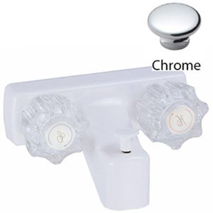 "Picture of Relaqua  Chrome w/Clear Knobs 4"" Lavatory Faucet AM-212C 69-7085"
