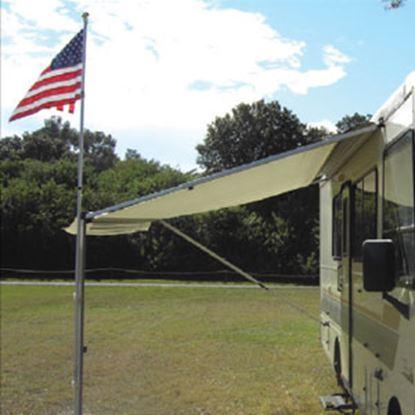 Picture of Adjust-a-Brush  2' x 3' US Flag w/ 9 ' Aluminum Pole Kit PROD104 69-8291