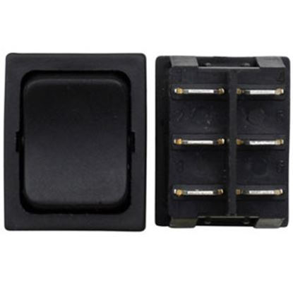 Picture of Diamond Group  3-Pack Black Momentary DPDT Push Button Switch DG415PB 69-8881