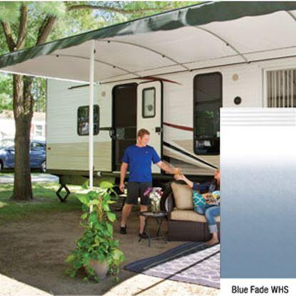 "Picture of Lippert Solera Destination Blue Fade Vinyl 16'L X 9' 8""Ext Patio Awning w/White Solera Shield V000334861 90-2165"
